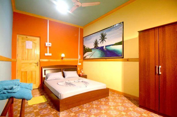 Maldives on  a budget - Mathiveri Inn room