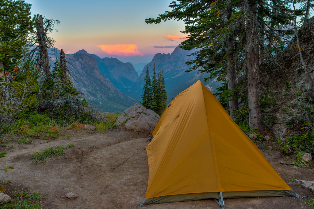 Camping Along the Death Canyon Shelf Grand Teton National Park Wyoming