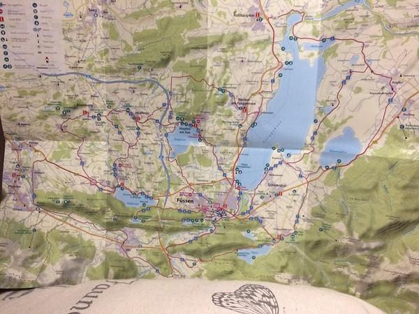 Fussen Cycle routes Fussen