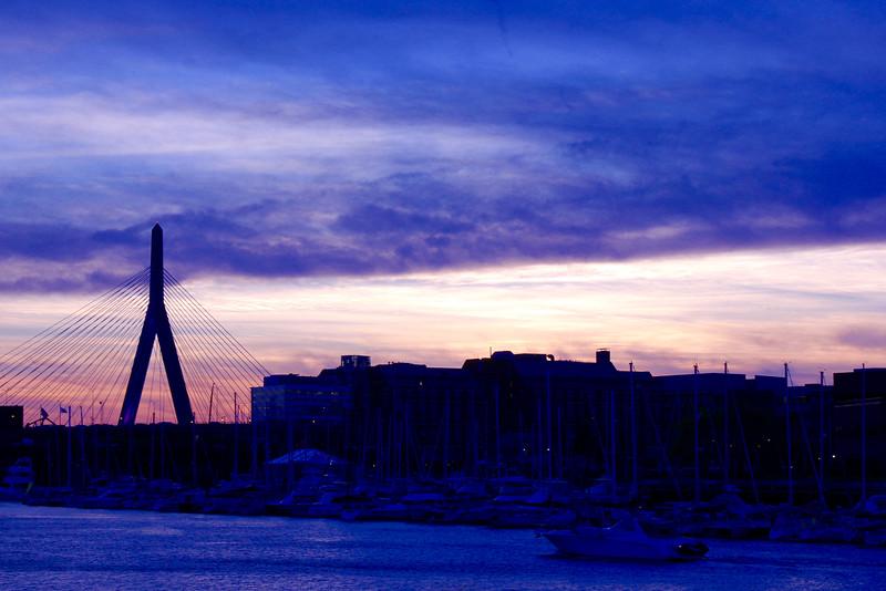 Boston Harbor and Zakim Bunker Hill Bridge