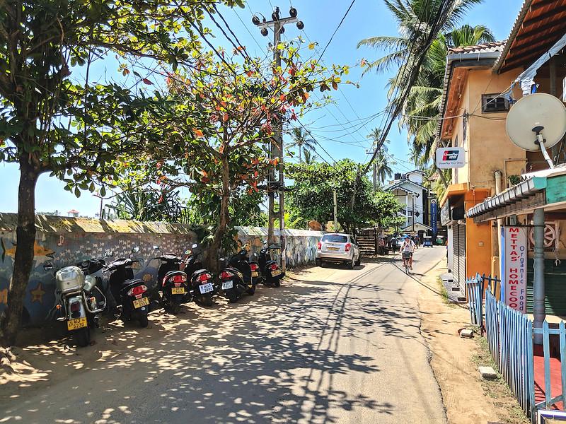 Affordable Beach Destination - Unawatuna, Sri Lanka - main road
