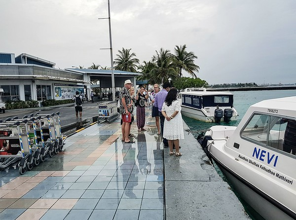 Maldives on a budget - airport speedboat