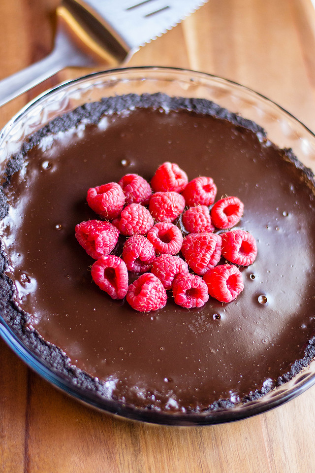 This chocolate raspberry tart is the perfect dessert for pretty much anything. Surprise a special someone with a birthday tart or bring it to a summer party