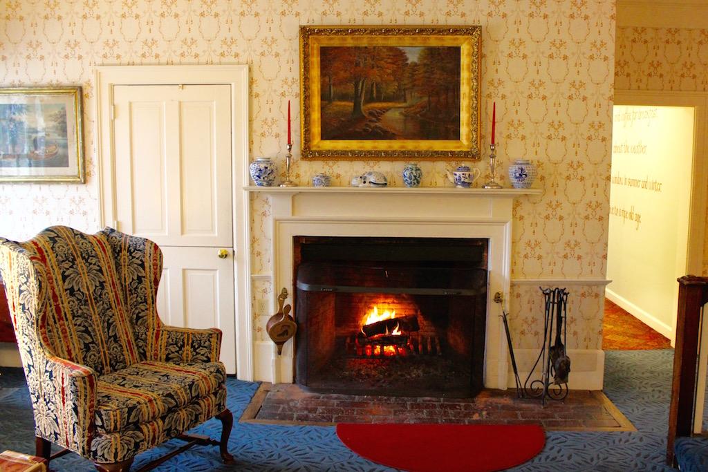 cozy reception area