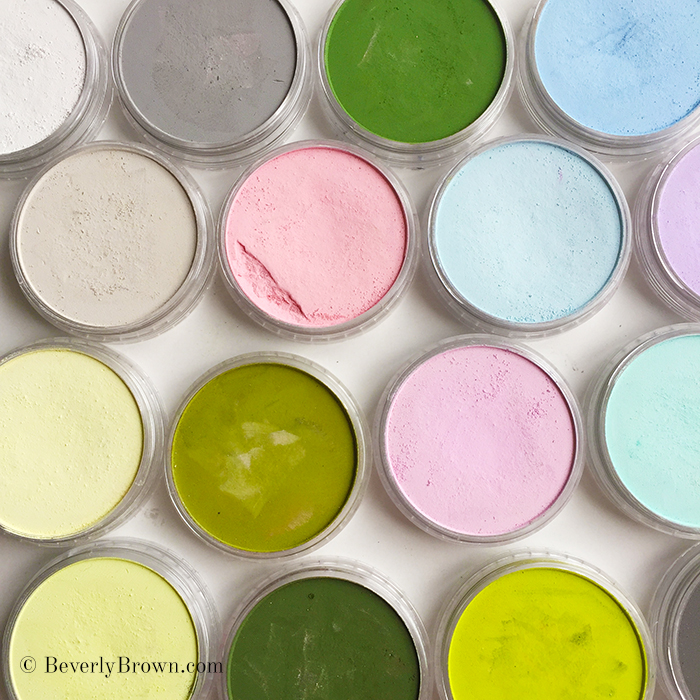 Central Park Spring Cherry Blossom Color Palette - Beverly Brown Artist - www.beverlybrown.com