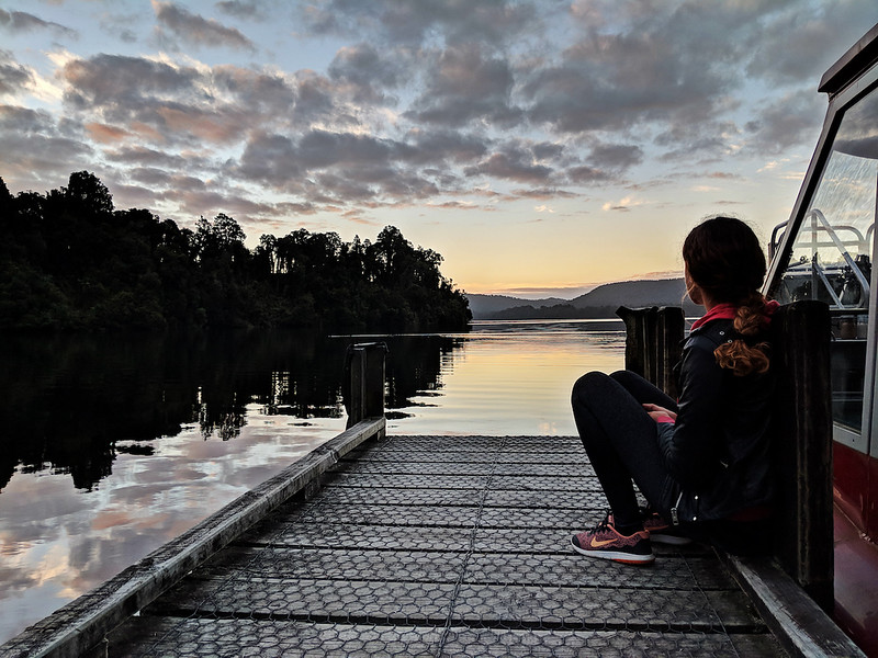 8 Day New Zealand Road Trip - Sunset at Lake Mapourika