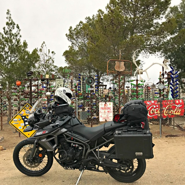 Motorcycle road trip Elmer's bottle tree ranch route 66