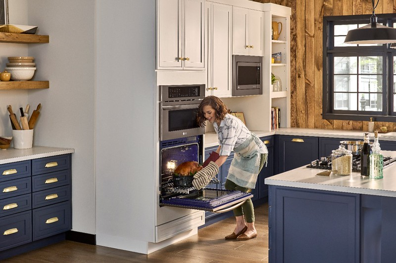 Looking for a Combination Double Wall Oven? With LG's new oven, you can get the hustle of a microwave with the quality you expect from a convection oven #ad