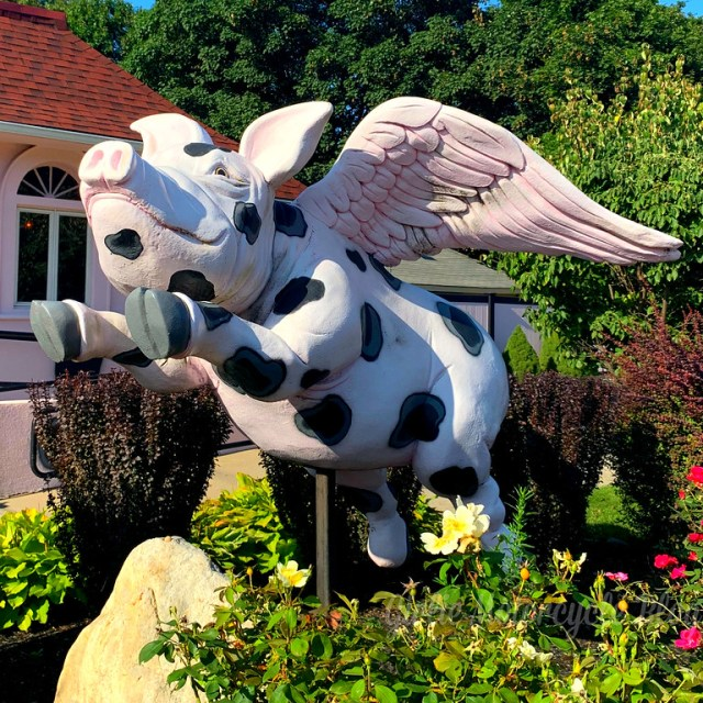 long island roadside attraction flying pig
