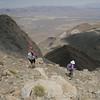Heading back down the steep, annoying chute