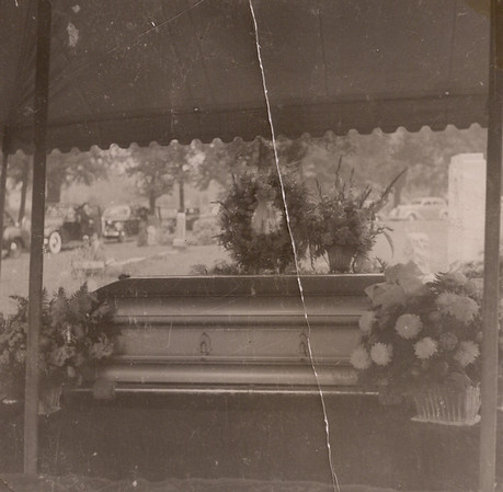 Great-grandmother's funeral, at the cemetery, 1941