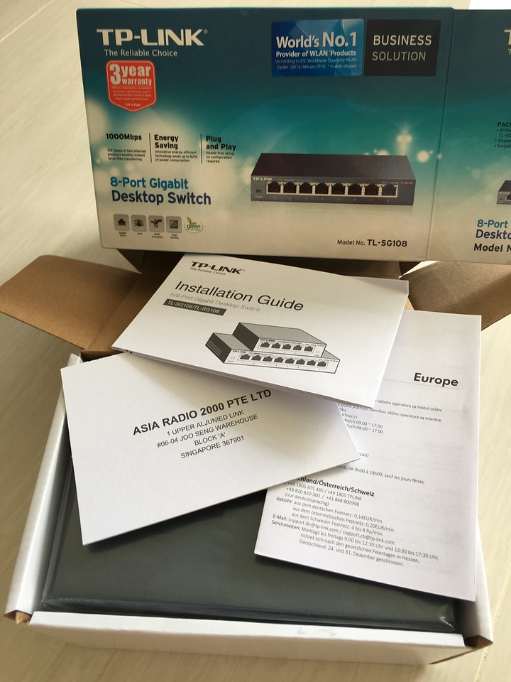 TP-Link 8 port gigabit switch TL-SG108