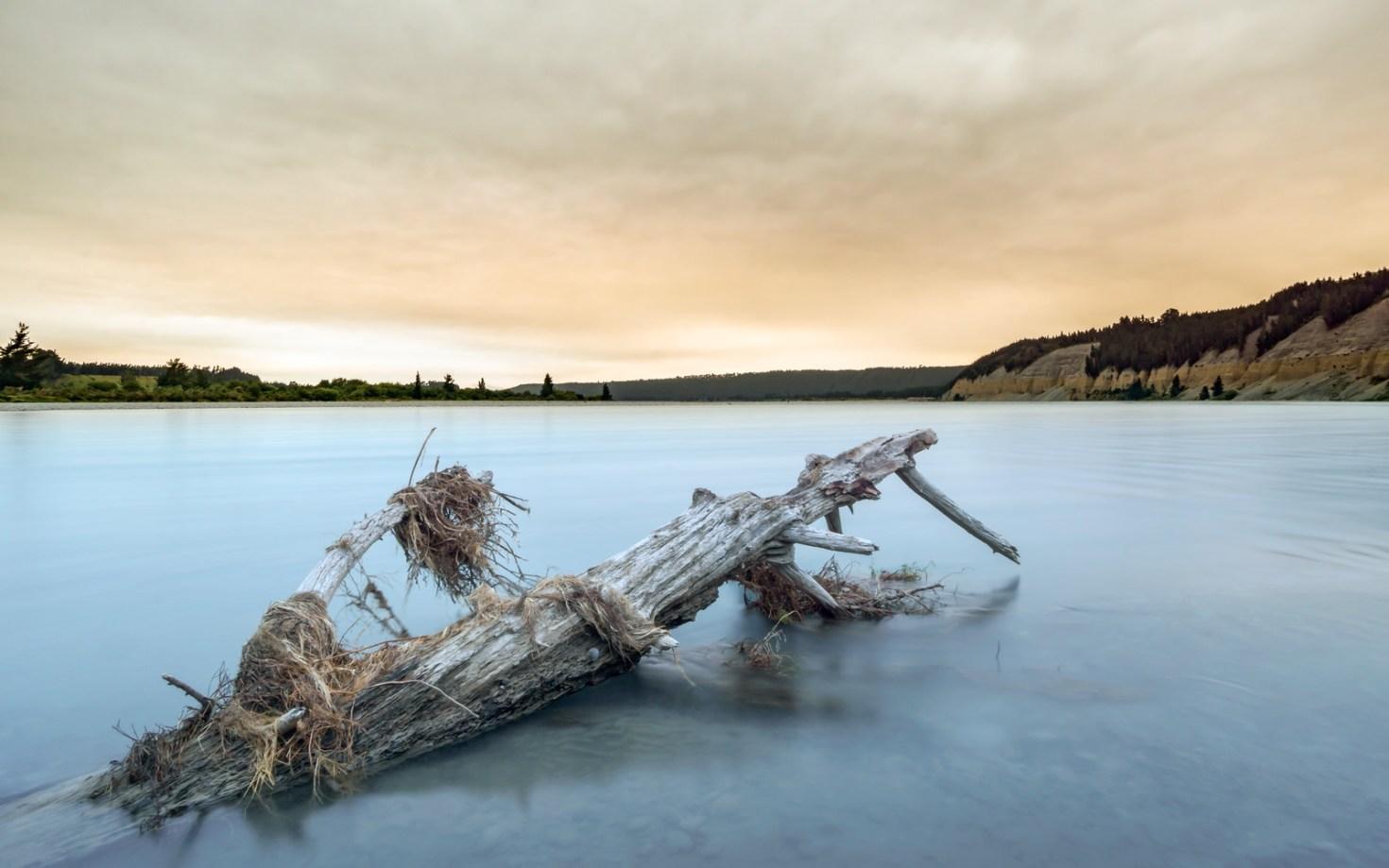 New Zealand, Mount Hutt - Sunset Rakaia River