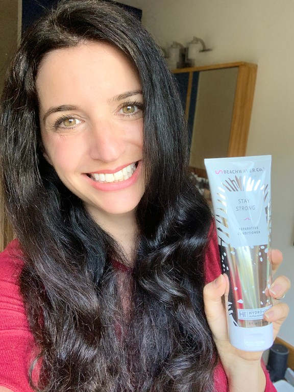 #ad Here's my not so secret beauty tip for getting hair salon quality hair at home with @thebeachwaver. Their products have been a game changer for me!