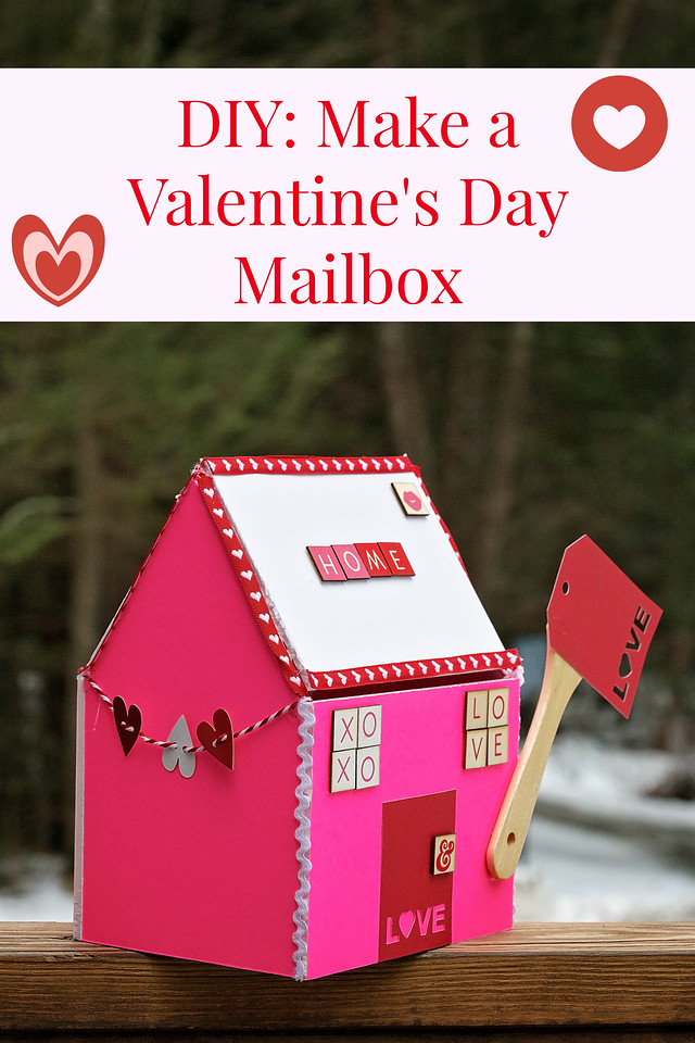 Do you love Valentine's Day too? Delight your family with this #DIY #Valentine's Day mailbox for your family or maybe for your sweetie. #SendingYourLove #ad