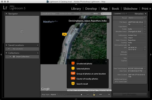 Lightroom Maps module with missing map sections in Yosemite