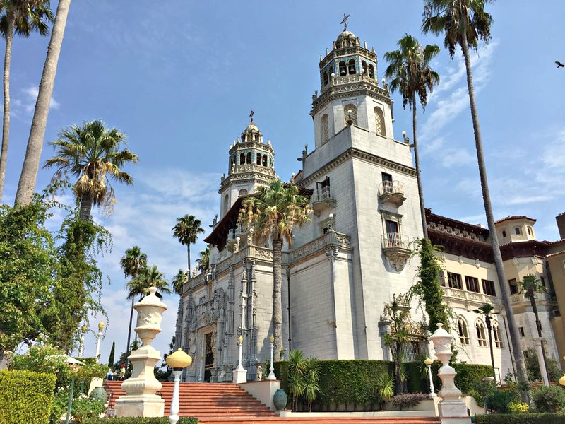 California road trip - Hearst Castle view