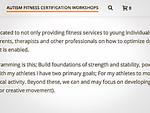 Autism Fitness Level 1 Certification