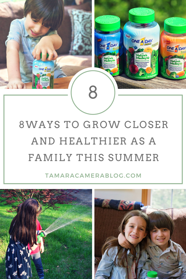 Summer is almost here, and we're looking for ways to grow closer and healthier as a family. The new One A Day with Nature's Medley makes it easy and delicious to take vitamins together. How are you getting your multivitamins? What do you do as a family to get healthier together in the summer? #ad #OneADay
