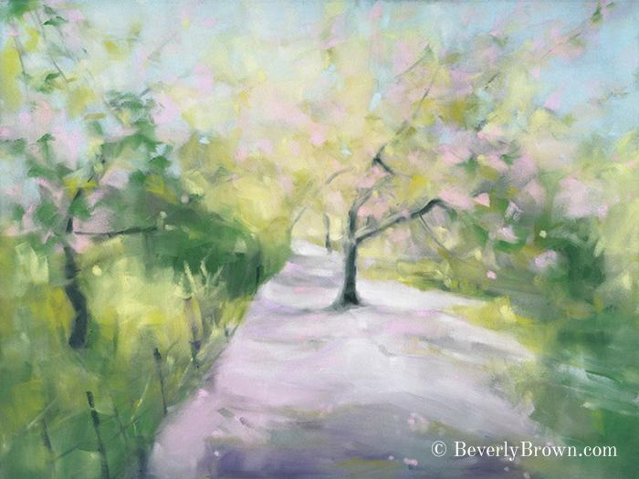 Central Park Cherry Blossom Art Print - Beverly Brown Artist - www.beverlybrown.com
