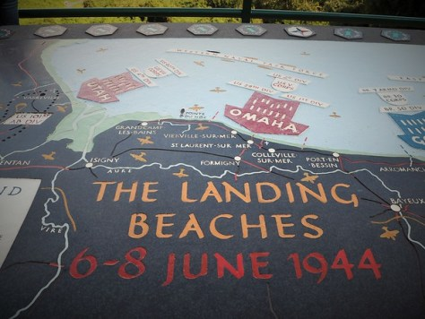 The landing beaches aka my route the past few days.