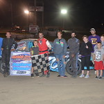 Nick Johnson won a heated battle for his first feature win in the Hornet class.