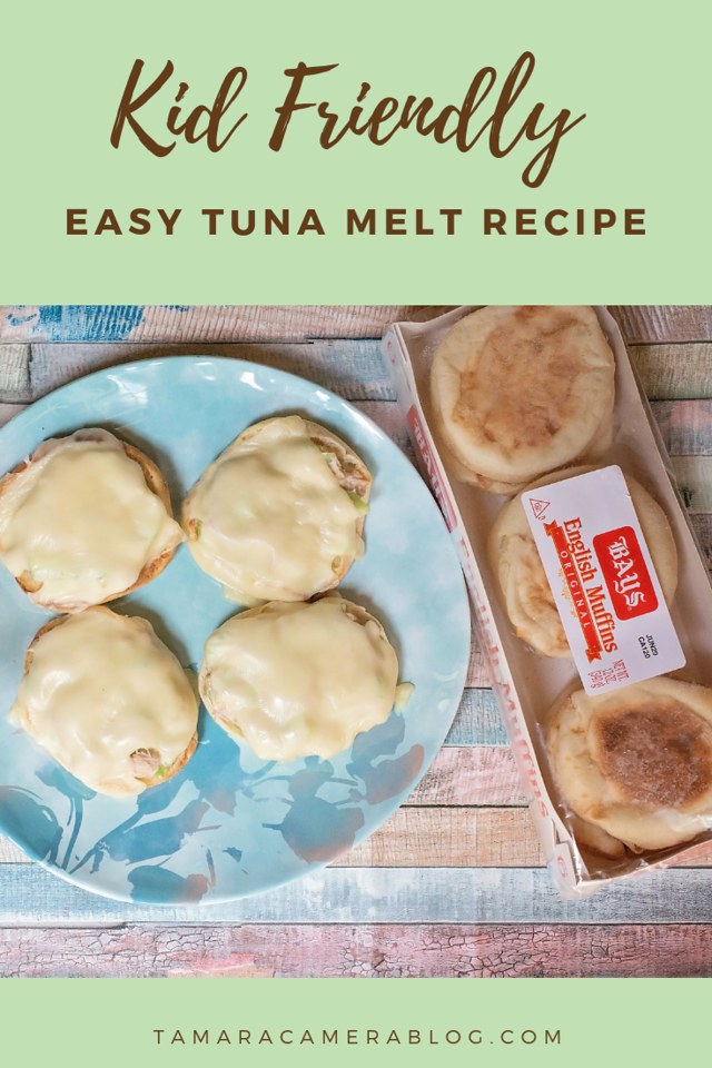 This kid-friendly easy tuna melt recipe is an instant hit for lunch, dinner, and snacks! Ready in minutes, it uses Bays English Muffins! #ad #BetterWithBays