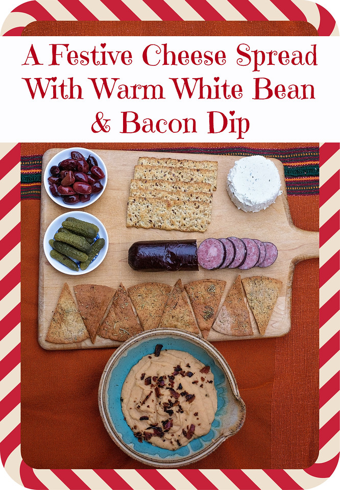 Boursin, or what my mom calls the best thing ever, is the perfect piece of a holiday pre-feast! #Recipe for white bean dip w/ #bacon. #BoursinCheese #ad
