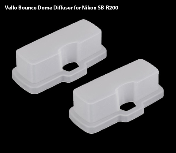 Vello Bounce Dome Diffusers for Nikon SB-R200 (R1 & R1C1)