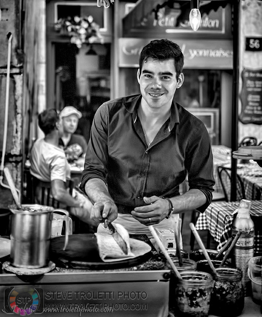 Steve Troletti Editorial, Nature and Wildlife Photographer: Auvergne &emdash; crepe maker in Colmar, France