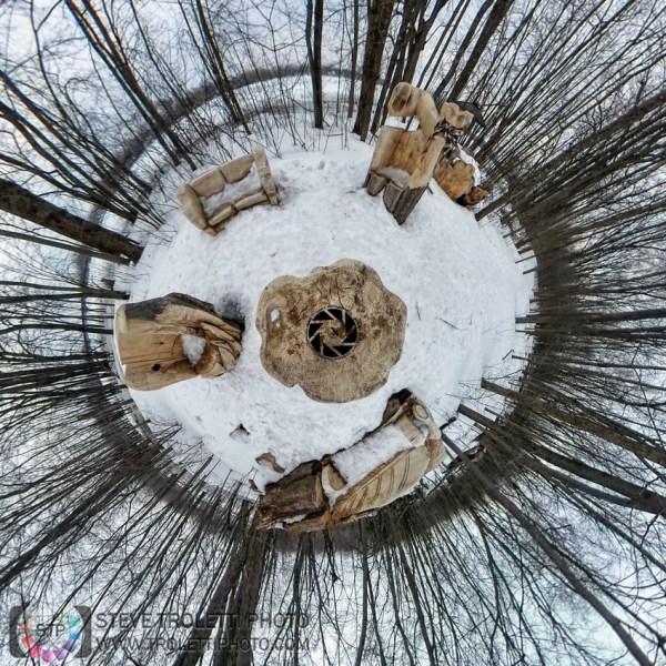 Steve Troletti Editorial, Nature and Wildlife Photographer: PICTURE OF THE DAY / PHOTO DU JOUR &emdash; Tiny Planet - Carved Living Room - Salle de séjour extérieure sculptée