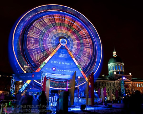Steve Troletti Editorial, Nature and Wildlife Photographer: Winter Festivals / Festivals d'hiver &emdash; (circle) Ferris Wheel / La Grande Roue