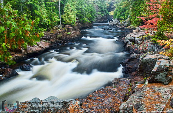 Steve Troletti Photography: NATURE & LANDSCAPES &emdash; Lanaudieres River - Downstream from Dorwin falls in Rawdon