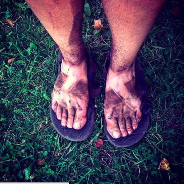 kelsi mayr hiking sandals dirt lines
