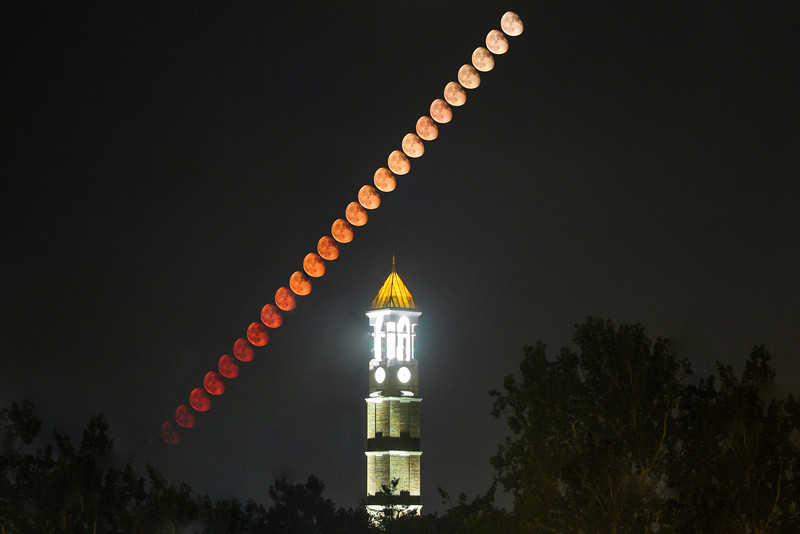 Bell; Clock; Purdue; University; lunar; moon; stack; tower September 2nd, 2015