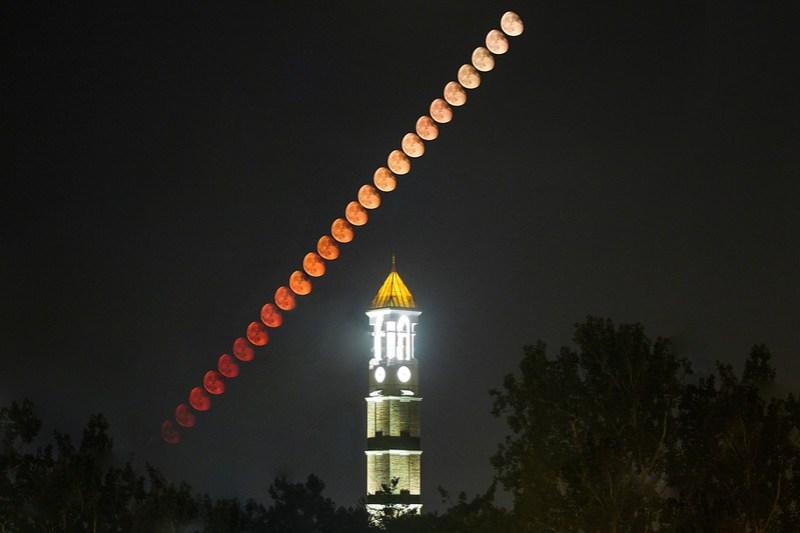 Bell; Clock; Purdue; University; lunar; moon; stack; tower September 2nd, 2015