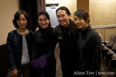 Professor Hu Ying, Li Jing, Adam and Rae following the Autumn Gem screening at UC Irvine