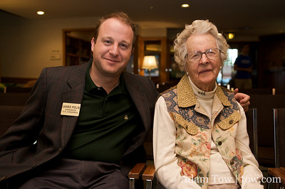 Mildred Walton and Jared Polis