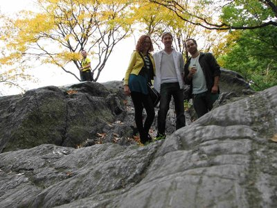 Giant rocks in Central Park