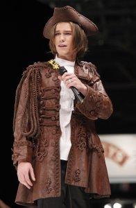 Amaury Vassili presents fashion made with chocolate at the 15th Salon du Chocolat