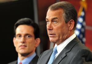 Speaker John Boehner holds a press conference in Washington