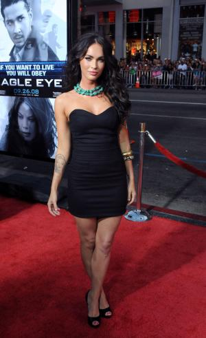 "Actress Megan Fox attends the premiere of the motion picture thriller ""Eagle Eye"", at Grauman's Chinese Theatre in the Hollywood section of Los Angeles on September 16, 2008.   (UPI Photo/Jim Ruymen)"