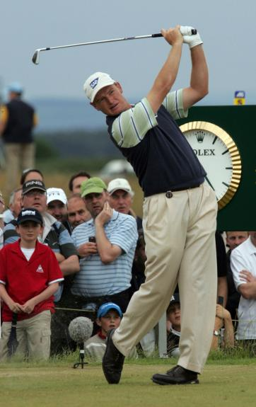 World-Class Golfer Ernie Els at the British Open