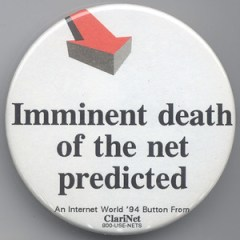 Clari.net Button - Imminent death of the net predicted