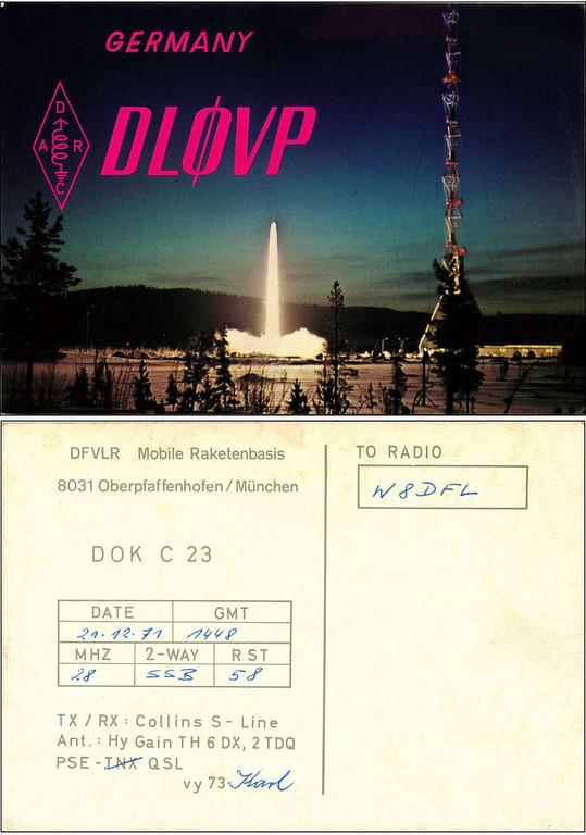 DL0VP QSL Card