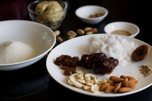 ingredients for dry fruits modak recipe