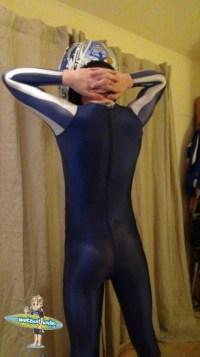 Chastity Belt under Adidas full body suit