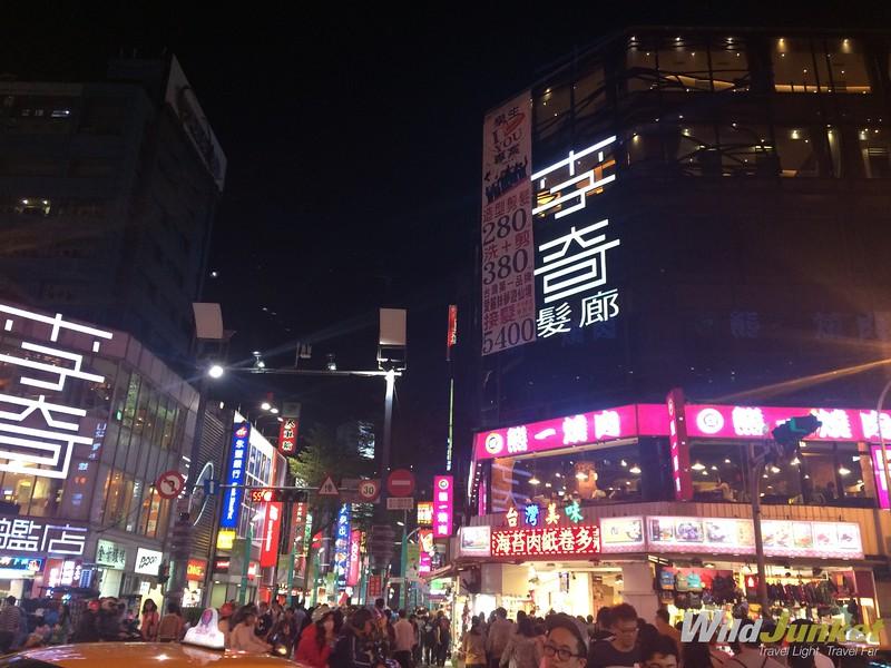 things to do in taipei taiwan - Ximending by night