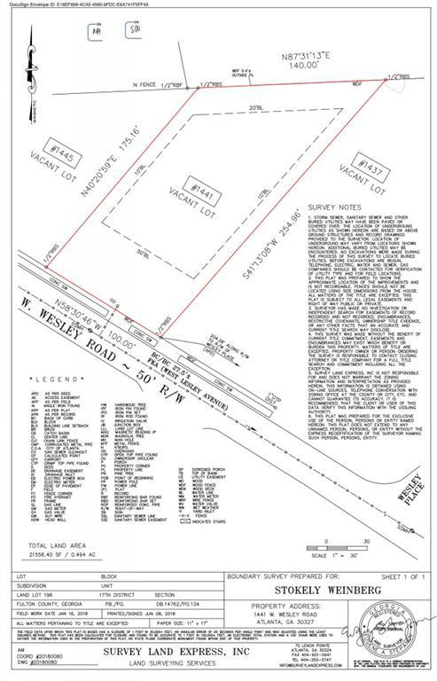 Property for sale at 1441 W Wesley Road, Atlanta,  Georgia 30327