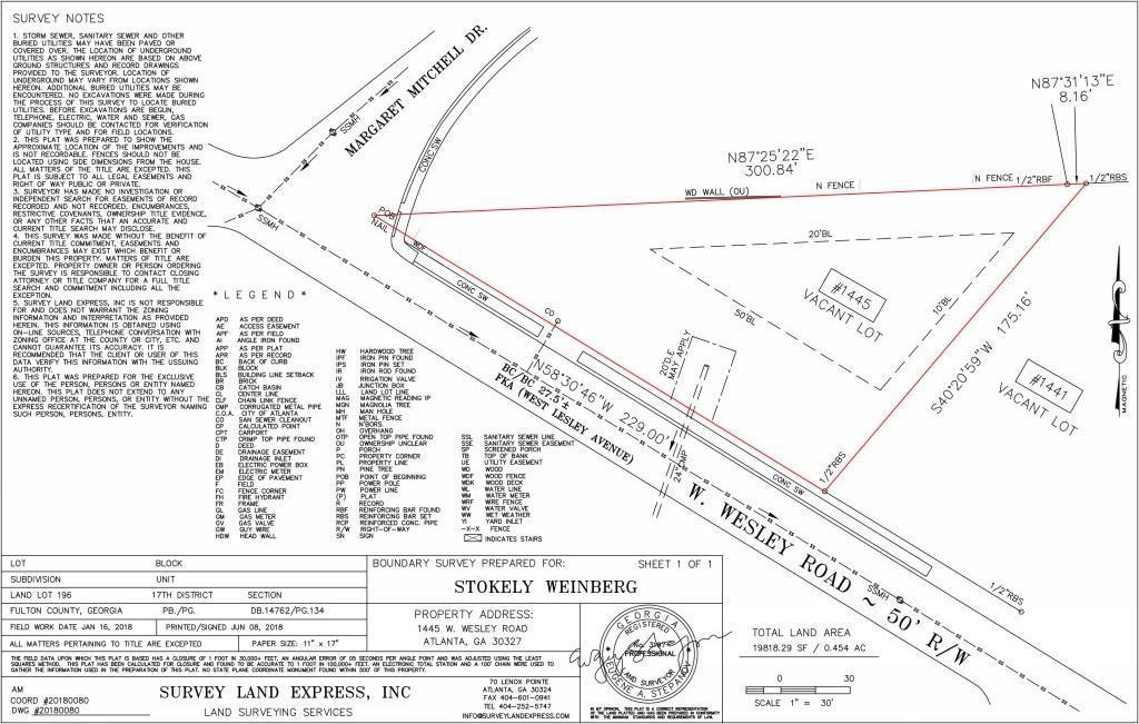 Property for sale at 1445 W Wesley Road, Atlanta,  Georgia 30327